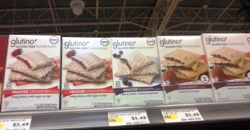 Glutino toaster pastry on shelf